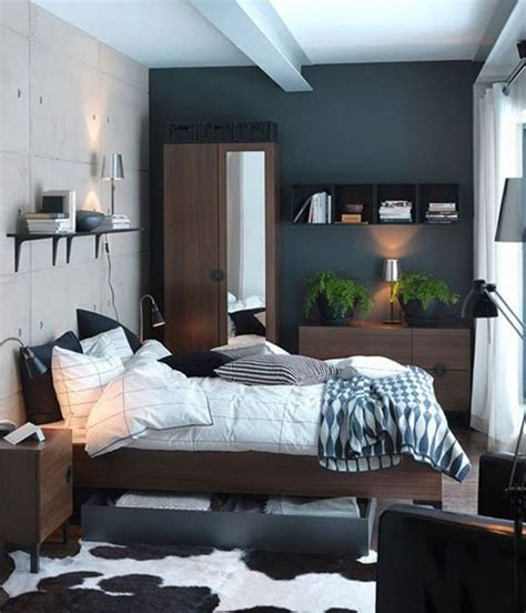 bedroom design dark blue paint colors  small bedrooms