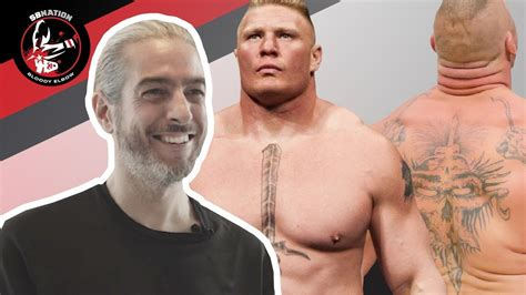 brock lesnar s tattoo artists react to brock lesnar s tattoos mma