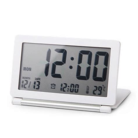 buy digital clock aliexpress buy ultrathin digital clock folding snooze alarm clock led digital desktop