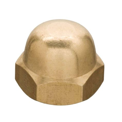 10 24 Cap Nut - everbilt 10 24 brass cap nut 19068 the home depot