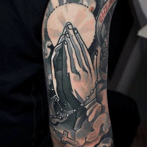 praying hands with rosary beads tattoo designs 100 rosary tattoos for sacred prayer ink designs