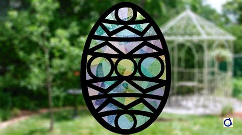 pattern paper stained glass easter craft with paper stained glass youtube