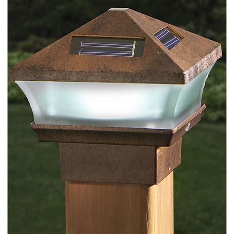 2 Pagoda Solar Post Lights 191858 Solar Outdoor Solar L Post Lights Outdoor