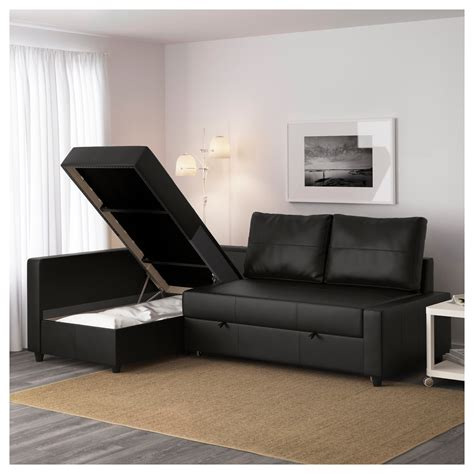 Corner Sofa Bed With Storage Ikea Friheten Corner Sofa Bed With Storage Bomstad Black Ikea