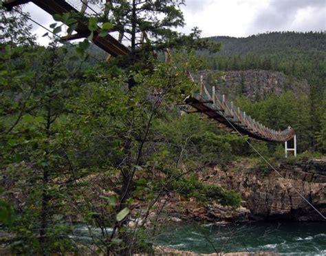 swinging bridge montana swinging bridge near libby montana travel pinterest
