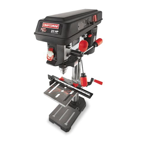 bench press sears craftsman 21900 10 quot bench drill press with laser trac