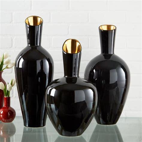 Decoration Vases by Noir Gold Set Of 3 Decorative Vases Design By Twos Company