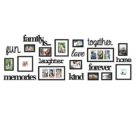 family tree bed bath and beyond wallverbs 174 22 piece quot family is quot photo frame set bed bath