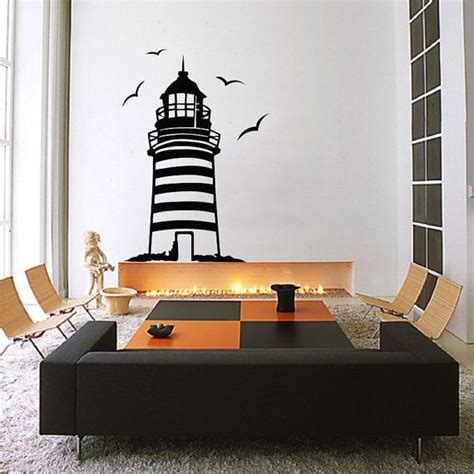 Wave Wall Mural lighthouse wall decal sticker made from vinyl decor