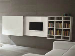 meuble tv mural escamotable slim 10 by dall agnese design
