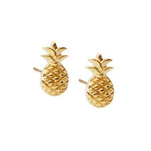 boucles d oreilles ananas or 7bis