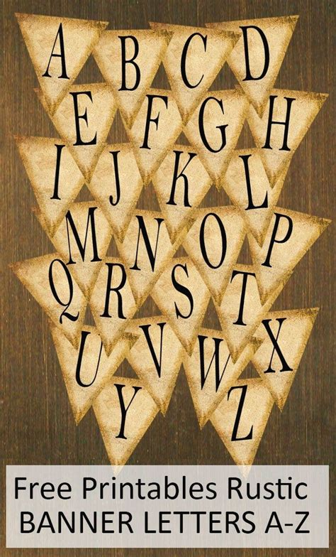free printable rustic fonts free printables rustic banner letters a z banner letters