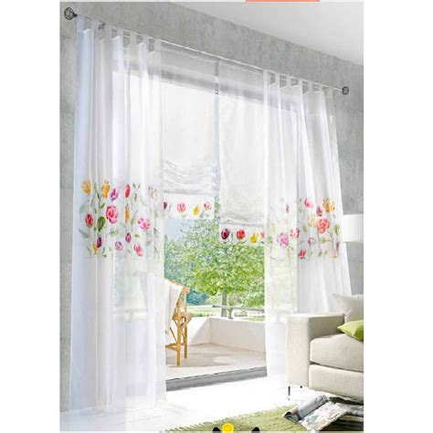 sheer kitchen curtains hot sale modern curtains for kitchen embroidered voile