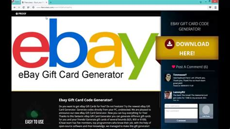How To Get Free Gift Cards Fast - free ebay gift card codes how to get fast 2016 youtube