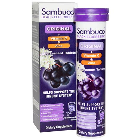 Dijamin Sambucol Cold And Flu sambucol black elderberry effervescent tablets 15