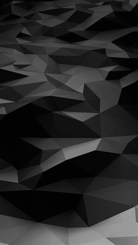 Low Poly Art Dark Bw Pattern #iPhone #5s #wallpaper