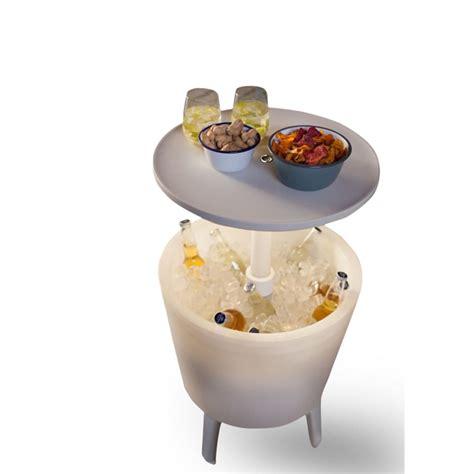 tavolo illuminato keter tavolo da bar con refrigeratore illuminato bianco