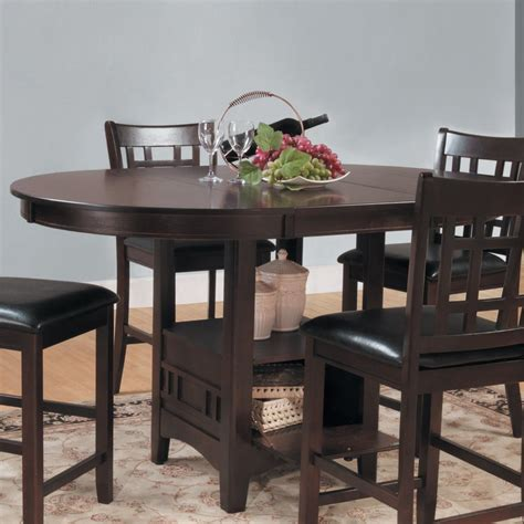 shop homelegance junipero round extending counter table at