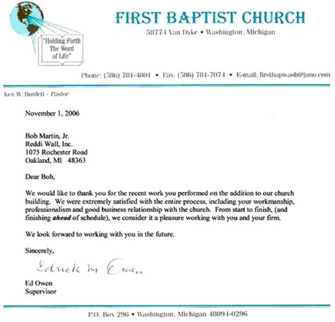 church letter template visitor letter for church visitors invitations ideas