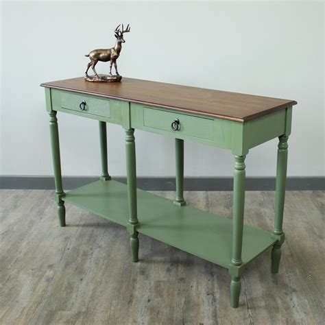 green sofa table green and honey console table melody maison 174