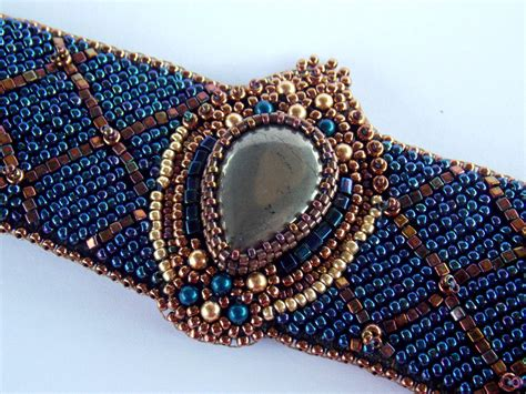 how to do bead embroidery items similar to bead embroidery bracelet ooak seed bead