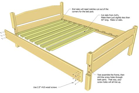 Double Bed Plan Bed Frame Construction