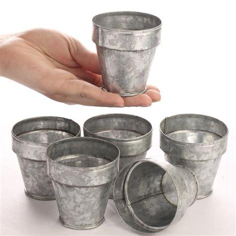 small flower pot small galvanized flower pots craft supplies sale sales