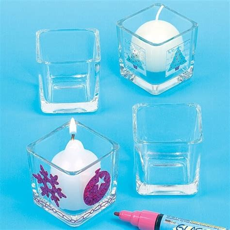 Teelichthalter Basteln Glas by Quadratische Teelichthalter Aus Glas Baker Ross