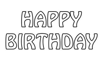 Php Image Text Outline by Happy Birthday Text Outline Free Stock Photo Domain Pictures