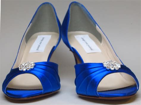 Blue Wedding Shoes For Low Heel by Royal Blue Wedding Shoes With Low Heel Ipunya