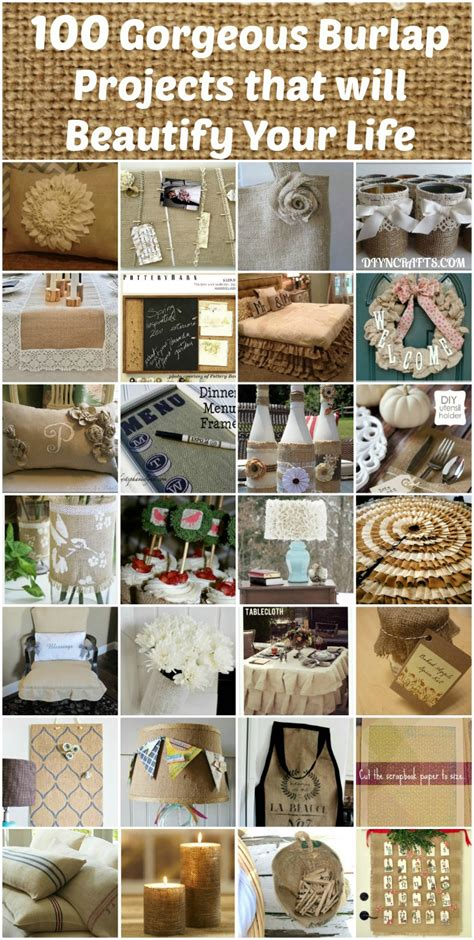 Crafts For Decorating Your Home by 100 Gorgeous Burlap Projects That Will Beautify Your
