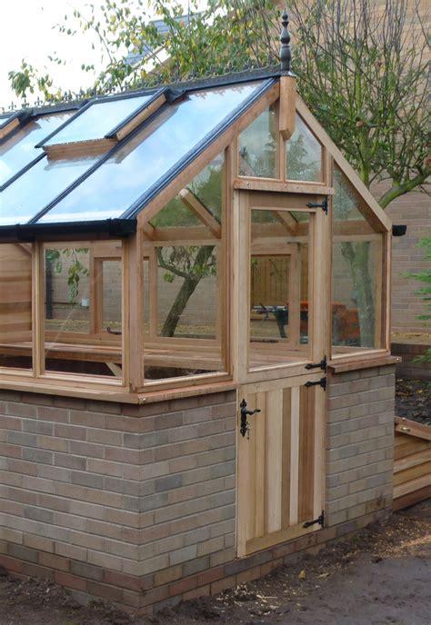 green house door stable door fitted in a western cedar greenhouse