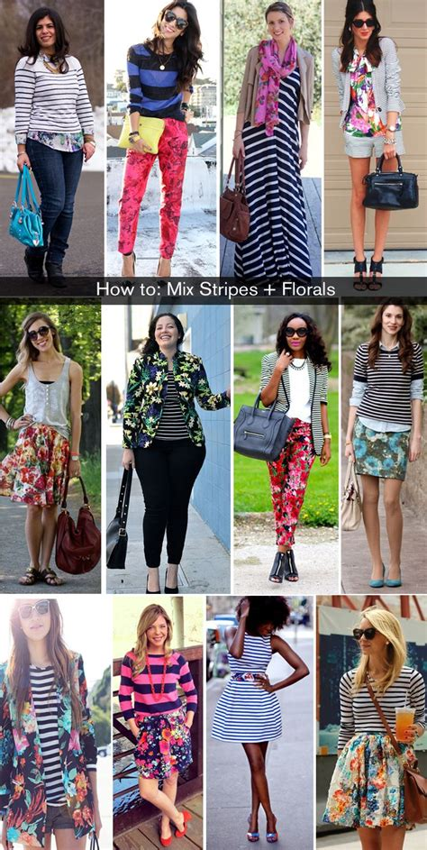 pattern mixing outfit ideas mixing patterns how to wear florals and stripes the
