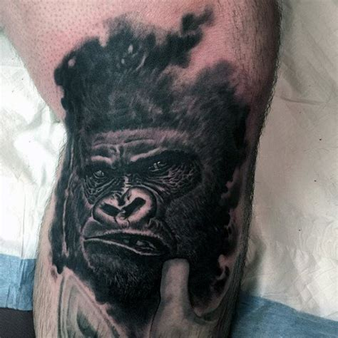 gorilla tattoo tribal 100 gorilla designs for great ape ideas