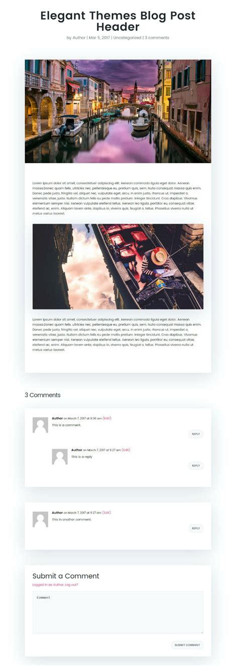 divi theme blog posts how to style divi s single post to match the new elegant