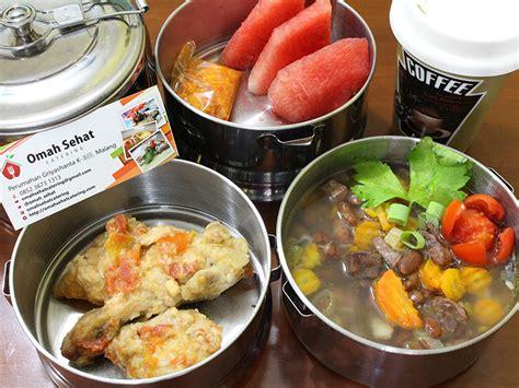 Menu Harian Praktis Lauk Sayur Dan Dessert paket catering harian omah sehat catering