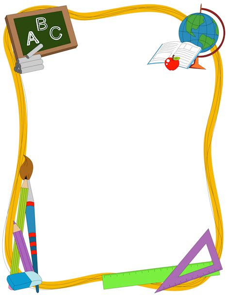 School Frame Clipart school border clip page border and vector graphics