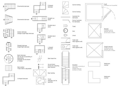 floor plan elements floor plans solution conceptdraw com