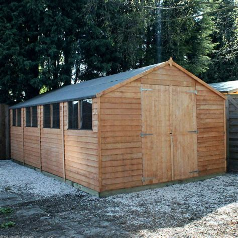 wooden workshop shed garden sheds ft  ft work shop