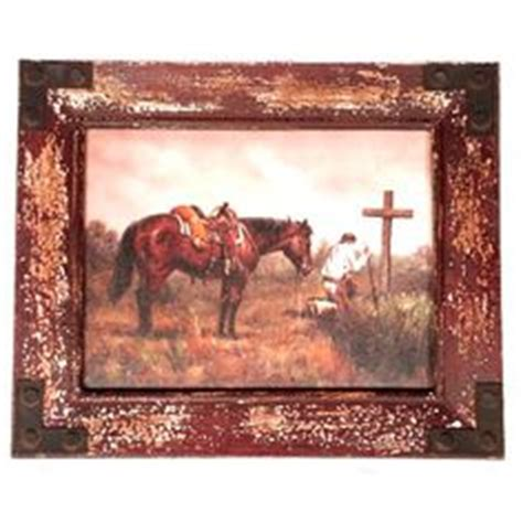 home interiors daybreak western cowboy horse picture lot 146 in the 9 3 13 online live auction this vintage