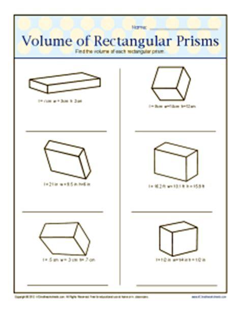 Volume Rectangular Prism Worksheet by 5th Grade Volume New Calendar Template Site