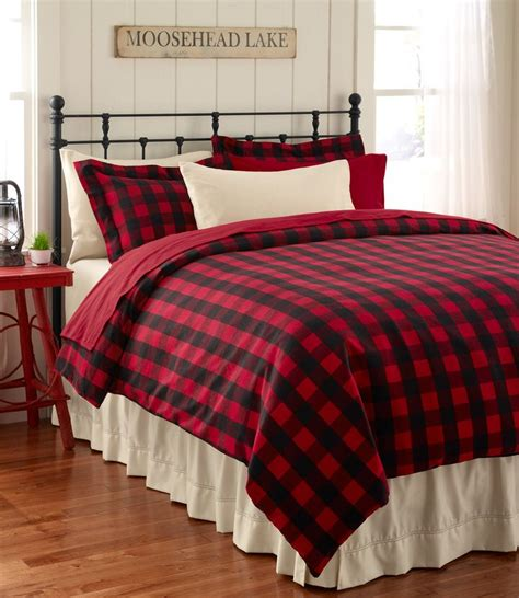 llbean comforters ultrasoft flannel comforter cover buffalo plaid bedding