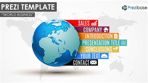 how to prezi template world business prezi template prezibase