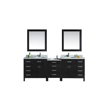 design element london 30 in w x 22 in d makeup vanity in design element london 92 in w x 22 in d double vanity in