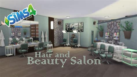 sims 4 cc beauty salon the sims 4 community build hair and beauty salon youtube