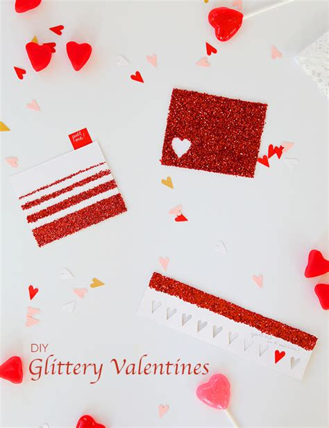 things to say in a valentines card diy simple glittery valentines say yes