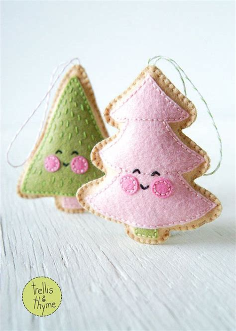 pattern felt christmas ornaments pdf pattern merry little trees sewing pattern christmas