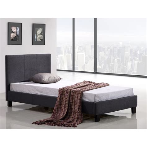palermo bed frame palermo single size stitched fabric bed frame grey buy