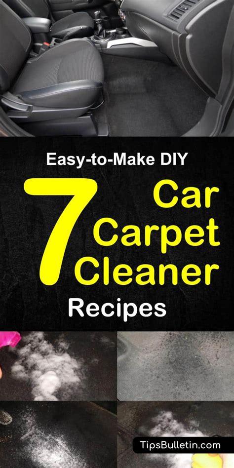 7 easy to make diy car carpet cleaner recipes