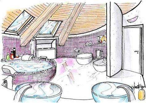 disegno di un bagno bagno in mansarda un progetto a pianta circolare